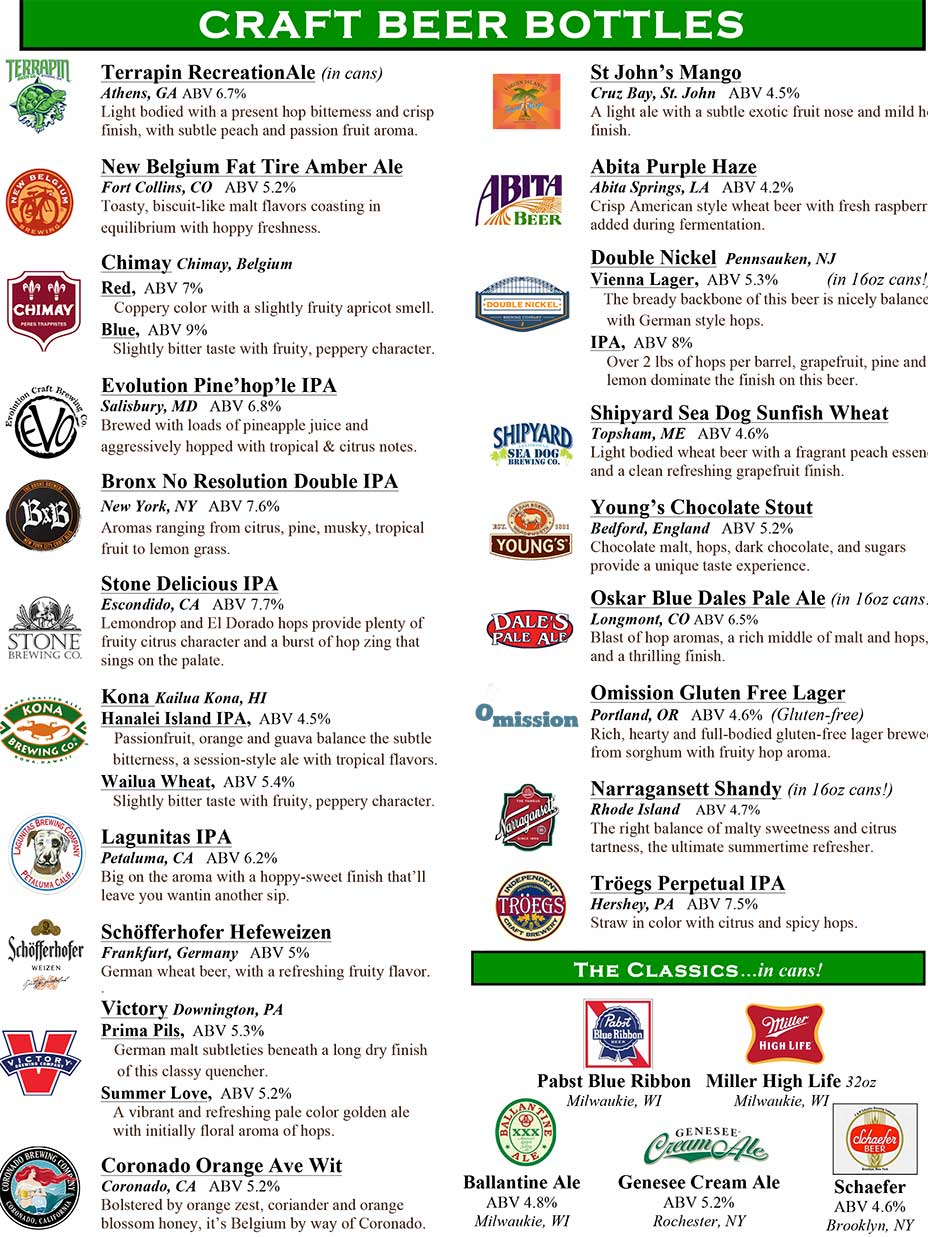 Harrigan's Pub - Craft Beer Menu Page 2