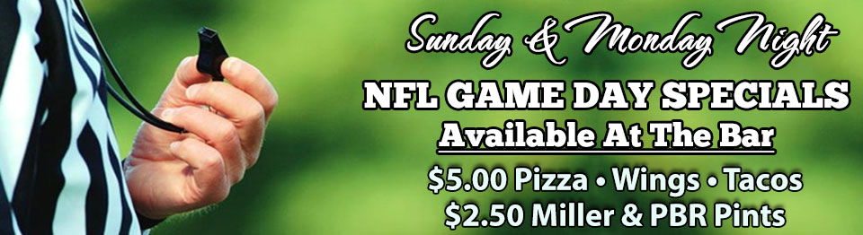 Harrigan's NFL Game Day Specials